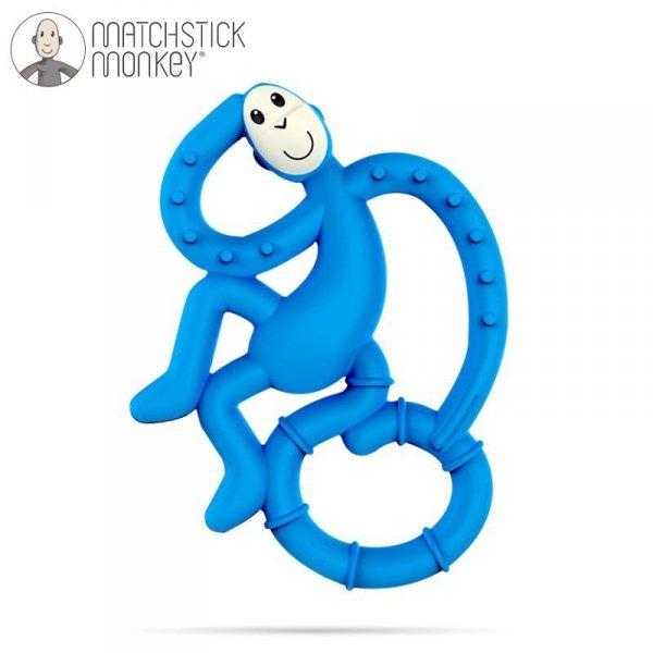 Terapeutyczny Gryzak Masujący ze Szczoteczką - niebieski