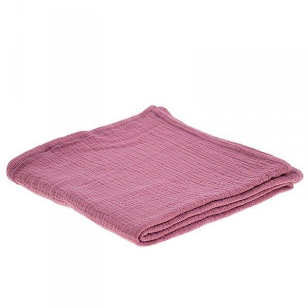 Oddychający otulacz muślinowy 100 / 100 w kolorze ciemnego różu