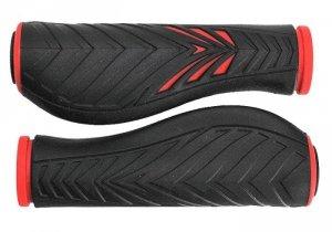 Chwyty VELO PRO-X 1133 Comfort GEL 130mm czerwono-czarne