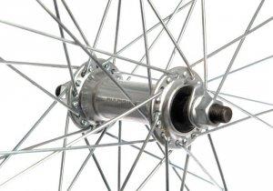 Koło 27 przód aluminiowe V-BR srebrne QUANDO