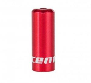Końcówka pancerza przerzutki ACCENT 4mm alum. czerwona 1szt