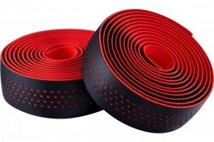 Owijka kierownicy MERIDA czarno-czerwona + korki