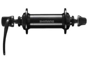 Piasta przednia alum. 36H, V-BR, zacisk, czarna /SHIMANO TX500/