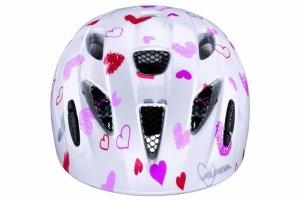 Kask ALPINA XIMO KIDS WHITE HEARTS biały w różowe serca 49-54cm