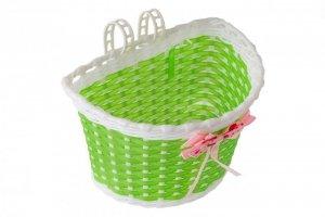 Koszyk na kier. dziecięcy plastik, BK-20 zielono-biały