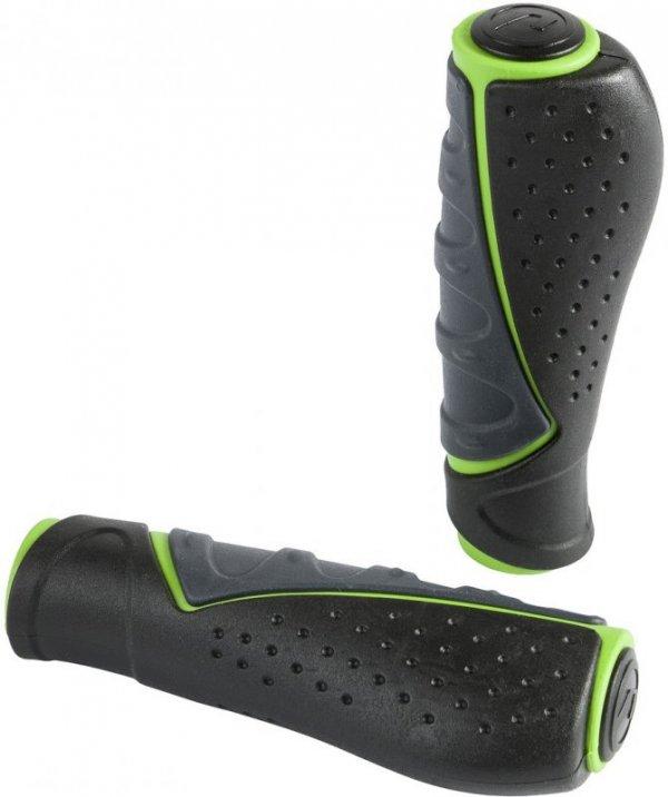 Chwyty kierownicy ACCENT Comfort 3D 92mm grafitowo-czarno-zielone