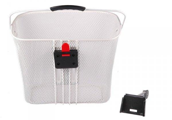 Koszyk na kierownicę zapin.+klip. HT-102 biały 33cm x 25cm