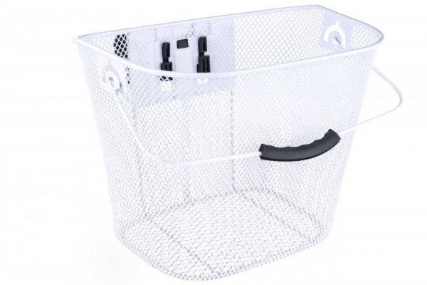 Koszyk na kierownicę zapin.+klip HT-207 siatka biały