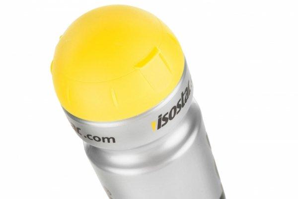 Bidon 1000ml ISOSTAR srebrno-czarny z żółtą przykrywką
