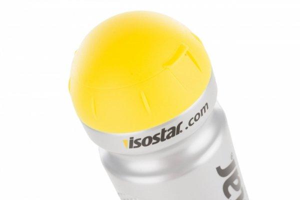 Bidon 650ml ISOSTAR srebrno-czarny z żółtą przykrywką