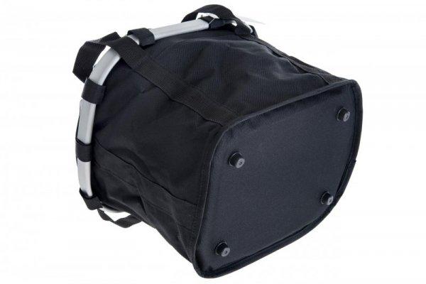 Koszyk na kierownicę z materiału HB-142 /KLIP/ 36x26x22 czarna