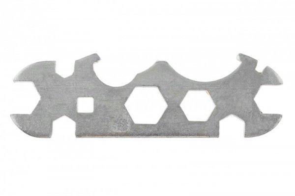 Klucz płaski stalowy 11-funk, srebrny