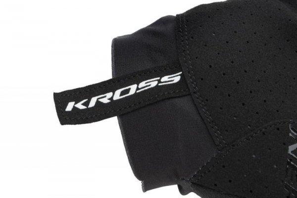 Rękawiczki KROSS Race Short 2.0 czarno-grafit M