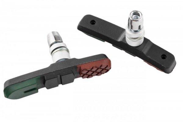 Klocki hamulcowe V-Brake imbus 72mm PROX niesymetryczne 3-kolor