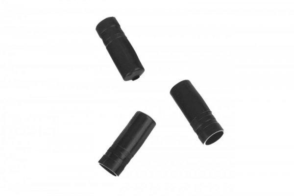 Końcówka pancerza hamulca plast. PVC fi 5  czarna, opak.100szt