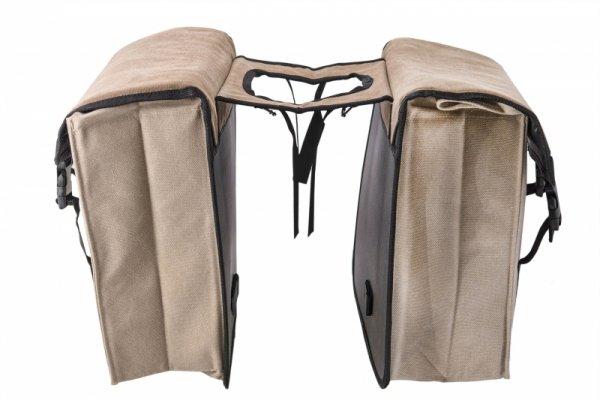 Sakwa na bagażnik KANDS RETRO 2x10L 30x30x14cm, beżowa