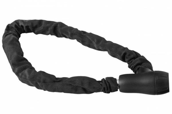 Zapięcie rowerowe na klucz ŁAŃCUCH 8x900mm w pokrowcu, czarne