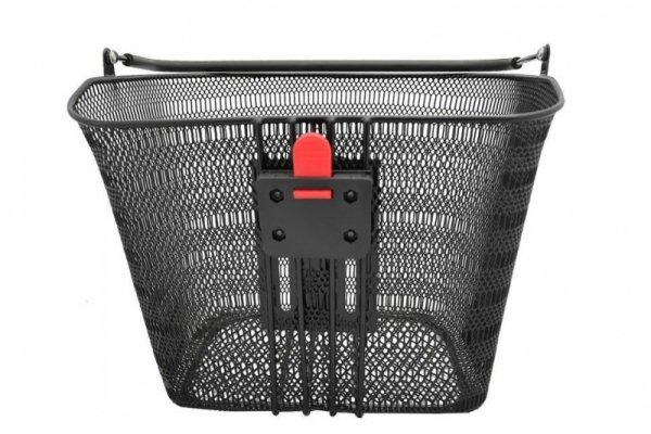 Koszyk na kierownicę +klip na wspornik kierownice NEXELO siatka czarny