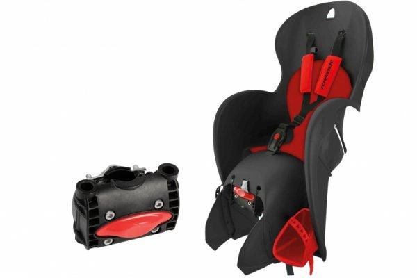 Fotelik dla dziecka KROSS WALLAROO czarno-czerwony