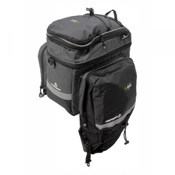 Sakwa na bagażnik MERIDA C-BAG 25L 3-komory rozsuwana, na rzep, czarna
