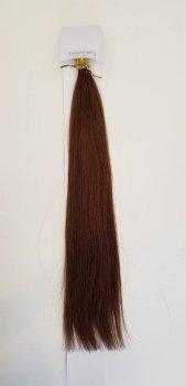 Zestaw włosów pod mikroringi, długość 55 cm kolor #04 - ŚREDNI BRĄZ