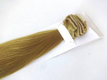 Syntetyczny zestaw Clip-in, długość 45 cm kolor #24 - Beżowy blond