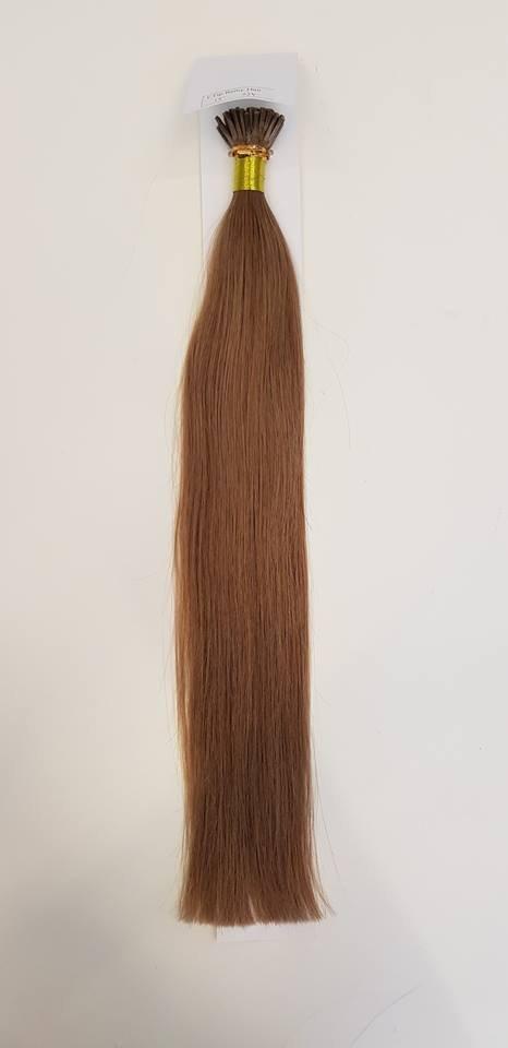 Zestaw włosów pod mikroringi, długość 55 cm kolor #08 - JASNY BRĄZ NATURALNY
