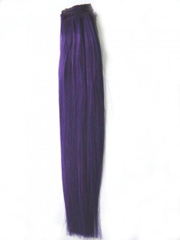 Pasmo Clip-in, 40 cm, kolor PURPLE,  8 g