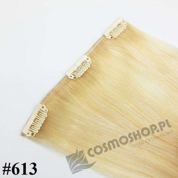 Zestaw Clip-in, długość 50 cm kolor #613 - JASNY BLOND