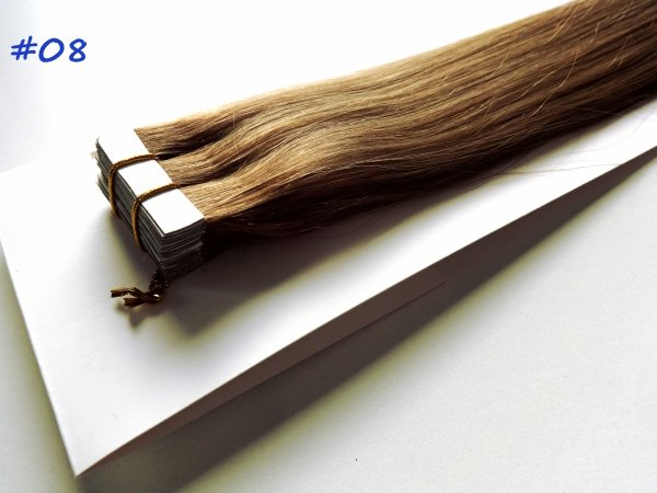 Zestaw Tape on, długość 40 cm, kolor #08- Jasny brąz naturalny