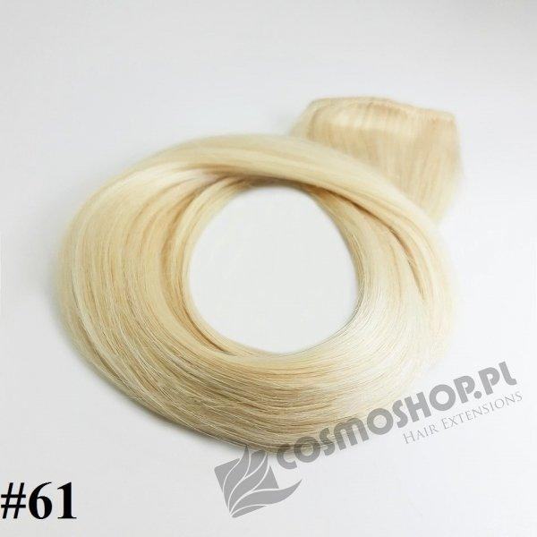 Zestaw Clip-in, długość 40 cm kolor #61-LODOWY BLOND, 130g