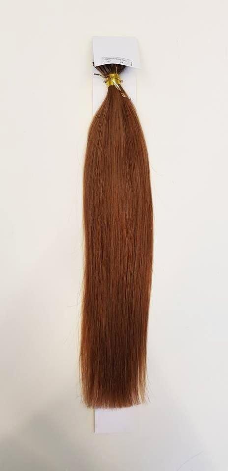 Zestaw włosów pod mikroringi, długość 40 cm kolor #06 - JASNY BRĄZ LEKKO KASZTANOWY
