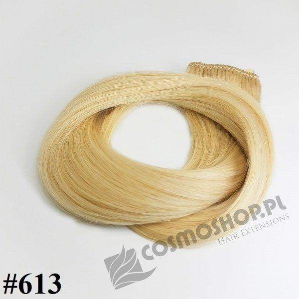 Zestaw Clip-in, długość 55 cm kolor #613 -JASNY  BLOND 135g