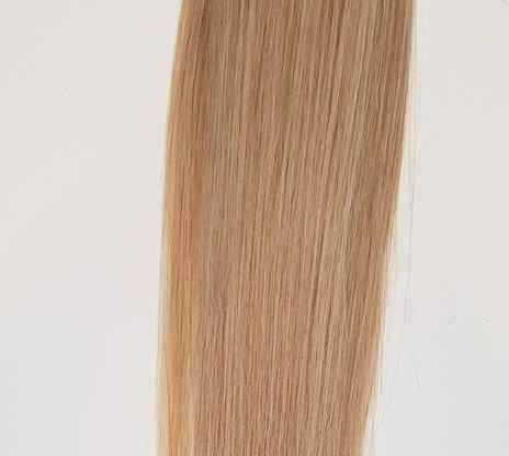 Zestaw włosów pod mikroringi, długość 55 cm kolor #6/613 - BALEJAŻ