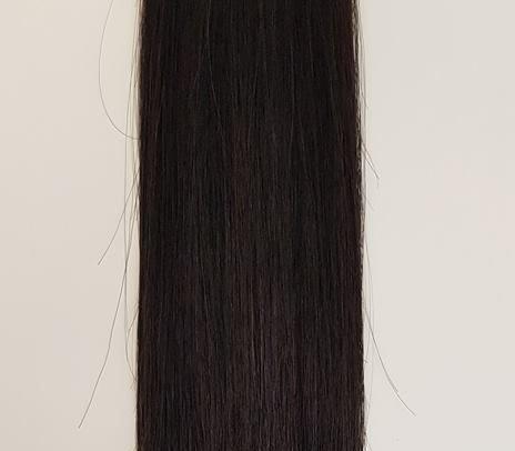 Zestaw włosów pod mikroringi, długość 55 cm kolor #1B - BARDZO CIEMNY BRĄZ