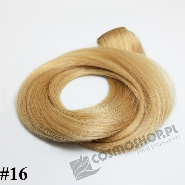 Zestaw Clip-in, długość 45 cm kolor #16-ZŁOCISTY BLOND, 150g