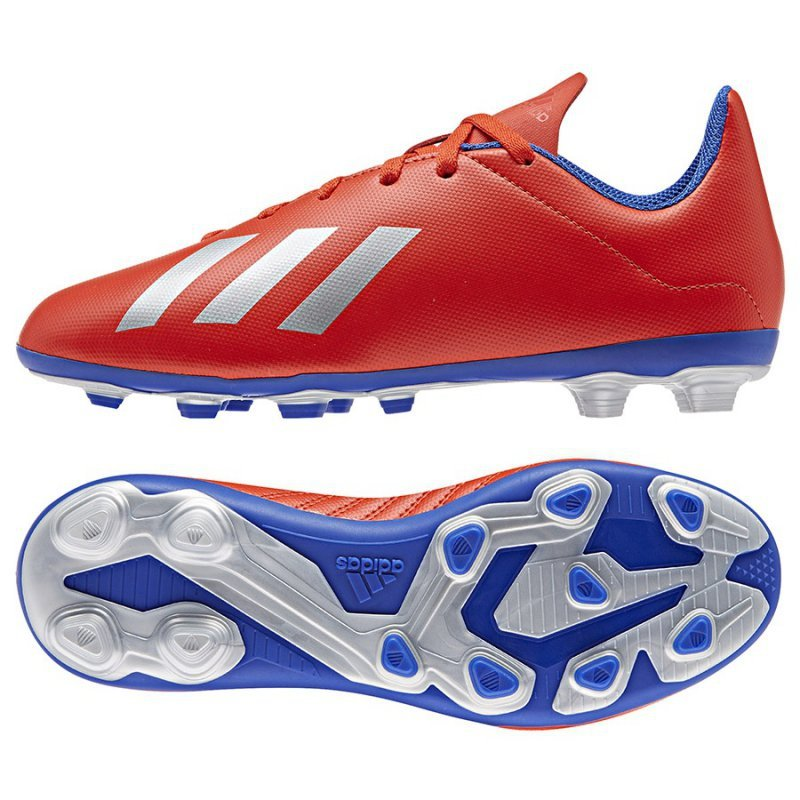 Buty adidas X 18.4 FXG J BB9379 czerwony 28