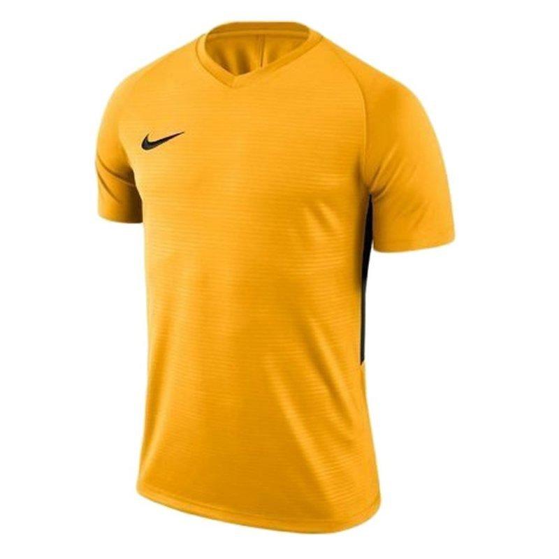 Koszulka Nike Y Tiempo Premier JSY SS 894111 739 żółty XS (122-128cm)
