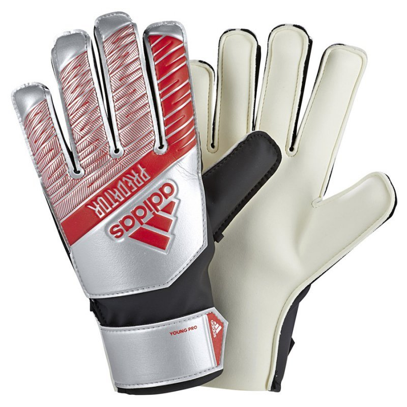 Rękawice adidas Predator YP DY2612 szary 4