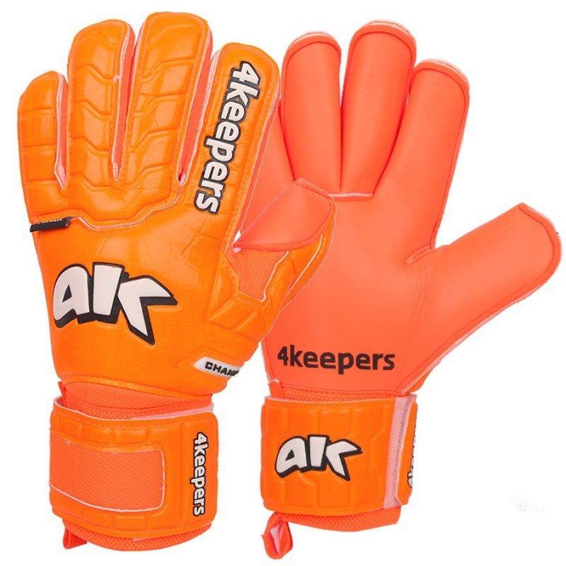 Rękawice 4keepers Champ Colour Orange IV RF + płyn czyszczący pomarańczowy 10