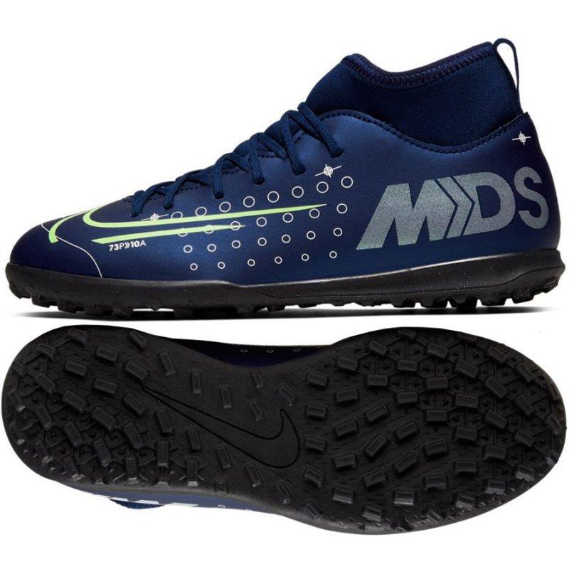 Buty Nike JR Mercurial Superfly 7 Club MDS TF BQ5416 401 niebieski 36