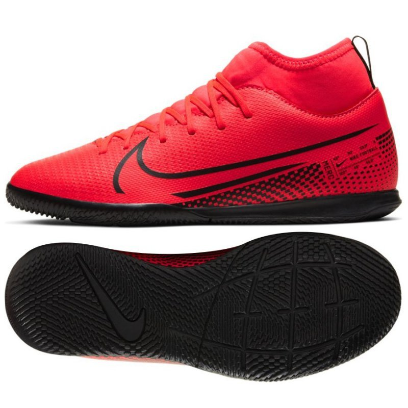 Buty Nike JR Mercurial Superfly 7 Club IC AT8153 606 czerwony 36 1/2