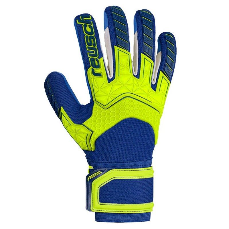 Rękawice bramkarskie Reusch Attrakt Freegel S1 LTD 50 70 263 2199 niebieski 8