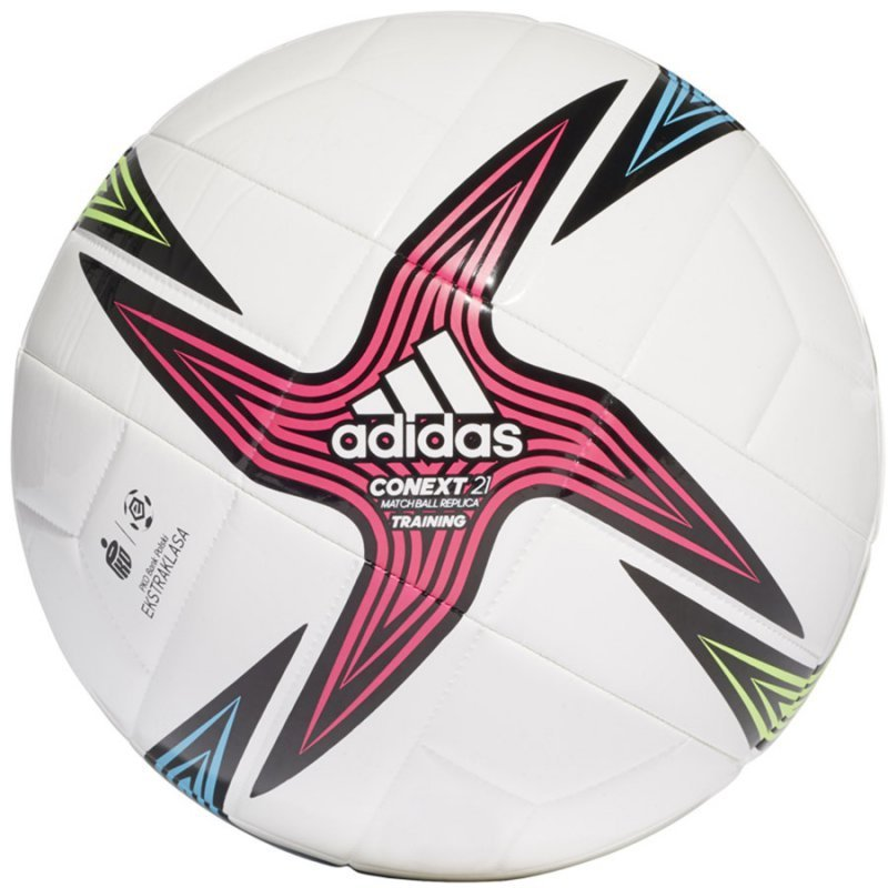 Piłka adidas Conext 21 Ekstraklasa Training GU1549 biały 3