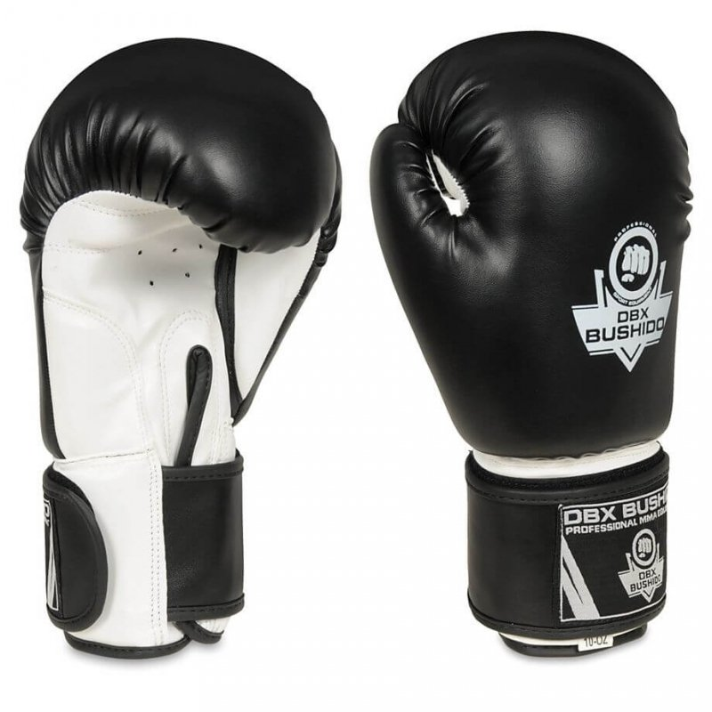 Rękawice Bokserskie Sparingowe Czarno-Białe ARB-407a 14 OZ