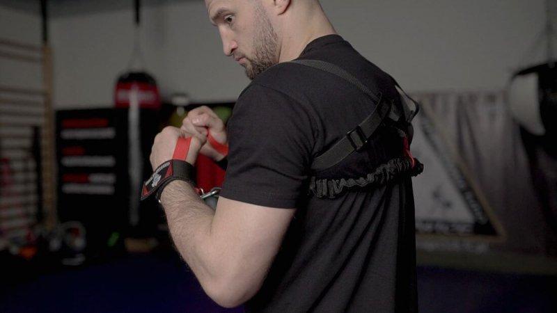 DBX Striker - Guma do treningu bokserskiego walki z cieniem, expander bokserski.