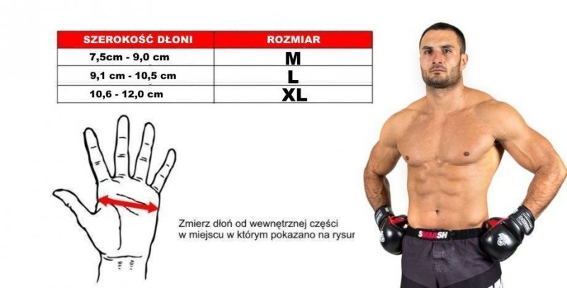 Rękawice do treningu MMA wykonane ze skóry naturalnej. DBX BUSHIDO.