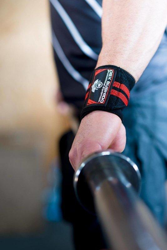 Elastyczne usztywniacze ściągacze nadgarstka Wrist Wrap - czarno-niebieskie
