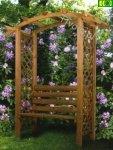 Pergola drewniana z ławką Nordic Seat 240x160x54