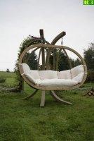 drewniany  fotel wiszący  dwuosobowy KACPER